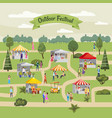 seasonal outdoor festival fair market with food vector image