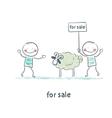 selling sheep vector image