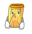 silent tamale with corn leaf in cartoon vector image vector image