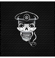 silver smoking captain skull with tobacco pipe on vector image vector image