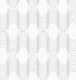 Slim gray striped waves vector image vector image
