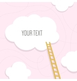 Stairs to the cloud with text place Template for vector image vector image