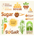 Sugar icons vector image vector image