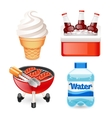 Summer Picnic Food Icons Set vector image vector image