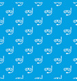 swimming mask pattern seamless blue vector image vector image