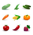 vegetable set vector image vector image