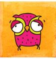 Weary Owl Cartoon vector image