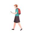 young man walks down street vector image vector image