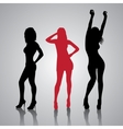 Girls Silhouettes vector image