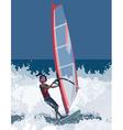man has windsurfing vector image