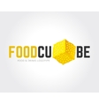 Abstract food logo template for branding vector image