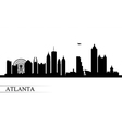Atlanta city skyline silhouette background vector image vector image