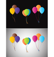 Balloons on a different background vector image vector image