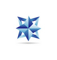 blue star logo sign symbol icon vector image