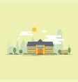 bright flat school building vector image