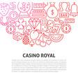casino royal line concept vector image vector image