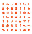 casual icons vector image vector image