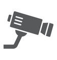 cctv camera glyph icon privacy and video vector image vector image