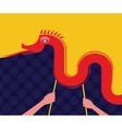 Chinese New Year -Dancing Dragon vector image