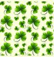clover leaf seamless background vector image vector image