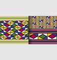 ethnic seamless pattern cloth kente tribal print vector image vector image