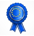 European award ribbon vector image vector image