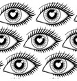eyes of lovers seamless pattern vector image vector image