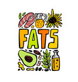 fats doodle poster vector image