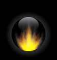 Fire flame in circle frame vector image vector image