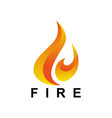 fire tech image vector image vector image