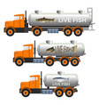 fish tank trucks vector image