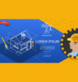 flat construction industry template vector image
