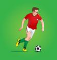 footballer version 1 vector image