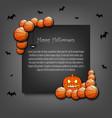 frame halloween with basketball balls vector image vector image