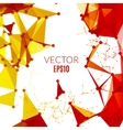 Futuristic Molecular structure design Cybernetic vector image vector image