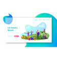 gardening business outdoor activity landing page vector image vector image