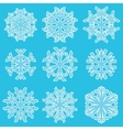 Geometric blue snowflakes vector image