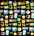 gift seamless pattern vector image vector image