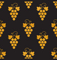 golg textured seamless pattern of grapes vector image vector image