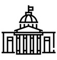 government building line vector image