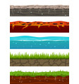 ground seamless levels game earth surfaces vector image
