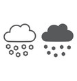 hail line and glyph icon weather and meteorology vector image vector image