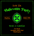 Halloween invitation cameo skulls template vector image