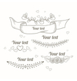 Hand drawn collection of monochrome floral design vector image