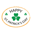 Happy St Patricks Day stamp style 2 vector image vector image