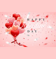 happy valentines day background red pink vector image vector image