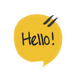 hello hand lettering fun doodle style vector image