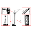 High detailed hoisting crane vector image vector image