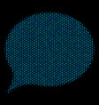 hint collage icon of halftone circles vector image vector image