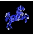 Horse in Ukrainian traditional painting vector image